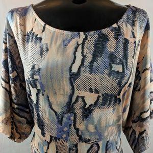 BCBG MAXAZRIA  Pastel Snake Print Dress XL